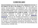 Comunicado TRE-SP